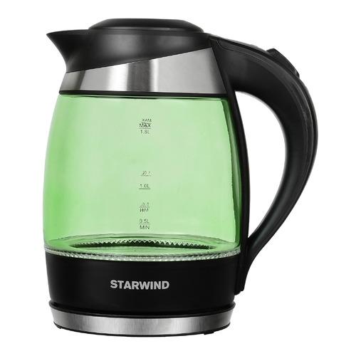 Чайник электрический STARWIND SKG2213, 2200Вт, зеленый и черный чайник starwind skg2213 зеленый