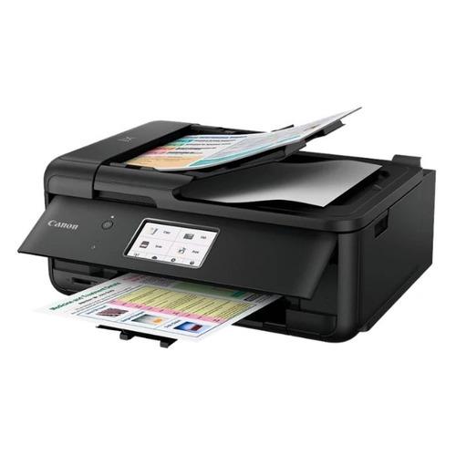 Фото - МФУ струйный CANON Pixma TR8540, A4, цветной, струйный, черный [2233c007] принтер струйный canon pixma tr150 4167c027 a4 wifi usb черный в комплекте батерея