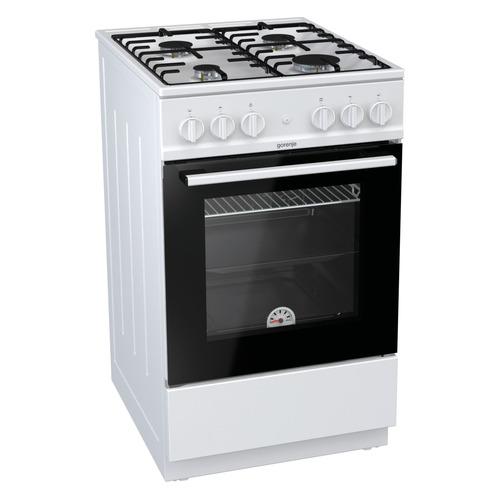 Газовая плита GORENJE GN5111WH, газовая духовка, белый газовая плита gorenje gi5121wh газовая духовка белый