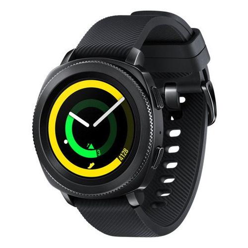 Смарт-часы SAMSUNG Galaxy Gear Sport, 1.2, черный / черный [sm-r600nzkaser] часы спортивные suunto spartan sport wrist hr all black цвет черный