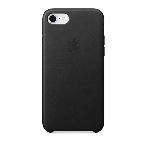 Чехол (клип-кейс) APPLE Leather Case, для Apple iPhone 7/8, черный [mqh92zm/a] цена и фото
