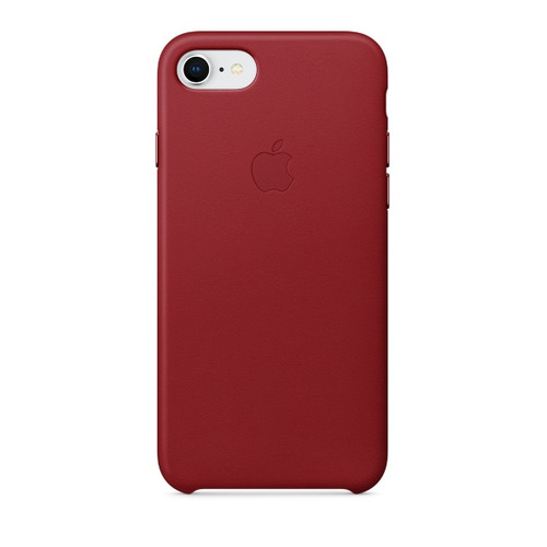 Чехол (клип-кейс) APPLE Leather Case, для Apple iPhone 7/8, красный [mqha2zm/a] недорого