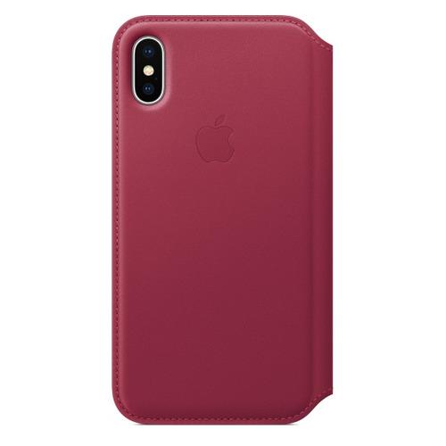 Чехол (флип-кейс) APPLE MQRX2ZM/A, для Apple iPhone X, розовый цена и фото