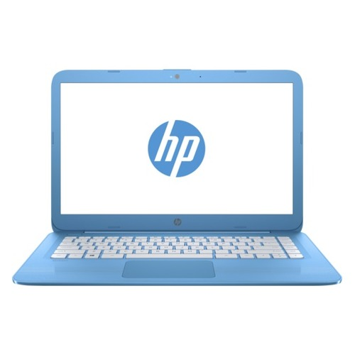 Ноутбук HP Stream 14-ax015ur, 14, Intel Celeron N3060 1.6ГГц, 4Гб, 32Гб eMMC, Intel HD Graphics 400, Windows 10, 2EQ32EA, голубой ноутбук hp stream 14 ax012ur 14 intel celeron n3060 1 6ггц 2гб 32гб ssd intel hd graphics 400 windows 10 2eq29ea фиолетовый