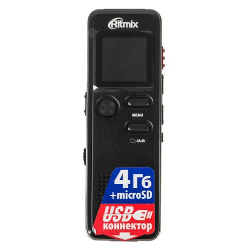 Диктофон RITMIX RR-610 4 Gb, черный [15118898] диктофон ritmix rr 190 4 gb черный [15119709]