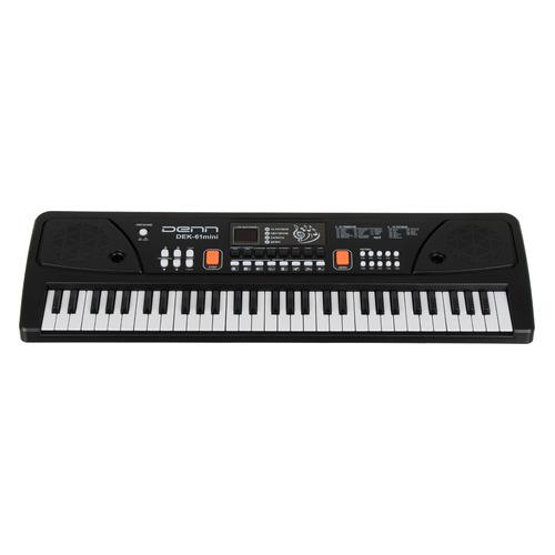 Синтезатор DENN DEK61 mini, 61, невзвешенная, малоразмерные, 4, черный  - купить со скидкой