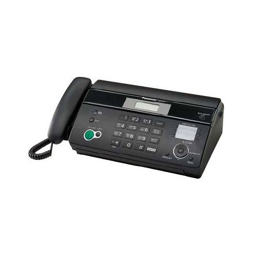 Факс PANASONIC KX-FT984RU-B, на термобумаге, черный факс panasonic kx ft984ru b