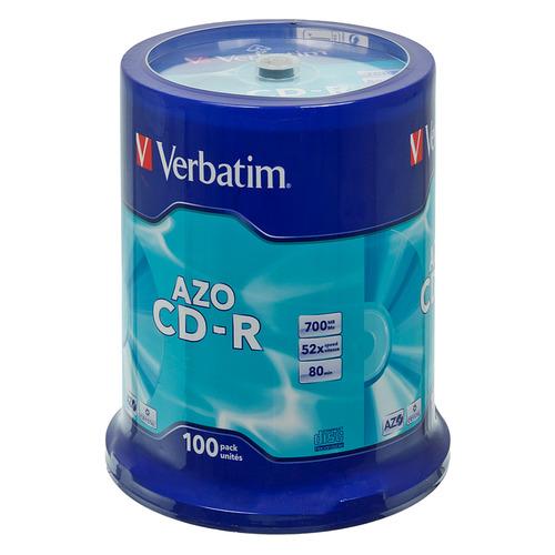 Фото - Оптический диск CD-R VERBATIM 700Мб 52x, 100шт., cake box [43430] диски cmc cd r 80 52x bulk full ink print 50шт