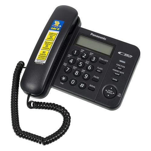 Проводной телефон PANASONIC KX-TS2356RUB, черный