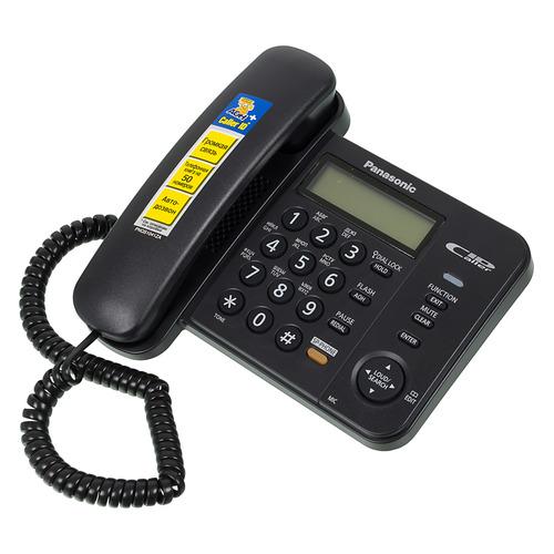 Проводной телефон PANASONIC KX-TS2358RUB, черный