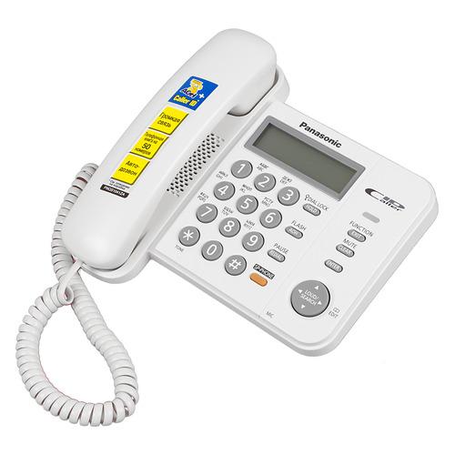 Проводной телефон PANASONIC KX-TS2358RUW, белый цена