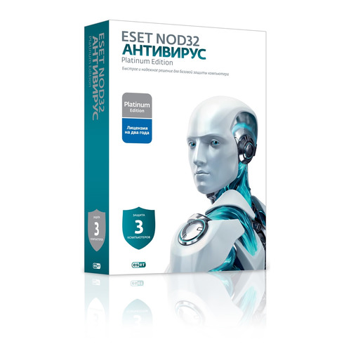 Антивирус ESET NOD32 Platinum Edition 3 ПК 2 года Новая лицензия BOX [nod32-ena-ns(box)-2-1] по eset nod32 internet security platinum edition 3 устройства 2 годa box nod32 eis ns box 2 3