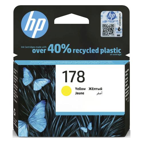 Картридж HP 178, желтый [cb320he] цена 2017