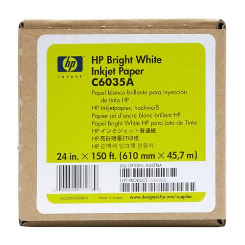 Фото - Бумага HP C6035A 24(A1) 610мм-47.5м/90г/м2/белый для струйной печати втулка:50.8мм (2) калька hp c3868a 90г м2 белый для струйной печати