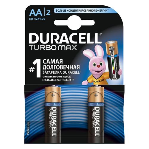 AA Батарейка DURACELL Turbo MAX LR6-2BL, 2 шт.