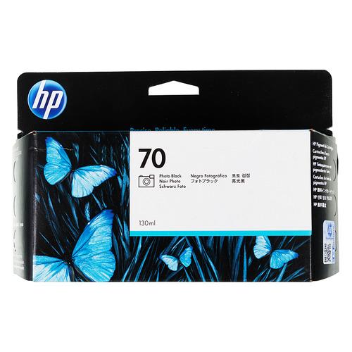 Картридж HP 70, фото черный [c9449a] картридж струйный hp 91 c9465a pigment 775 мл photo black для dj z6100