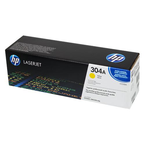 Фото - Картридж HP 304A, желтый / CC532A картридж hp 304a cc533a для принтера color laserjet cp2025 cm2320 пурпурный