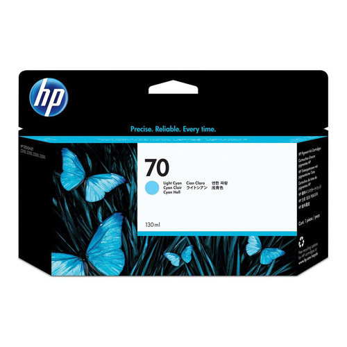 Картридж HP 70, светло-голубой [c9390a] картридж струйный hp 70 c9450a gray для dj z2100 z3100 130 мл
