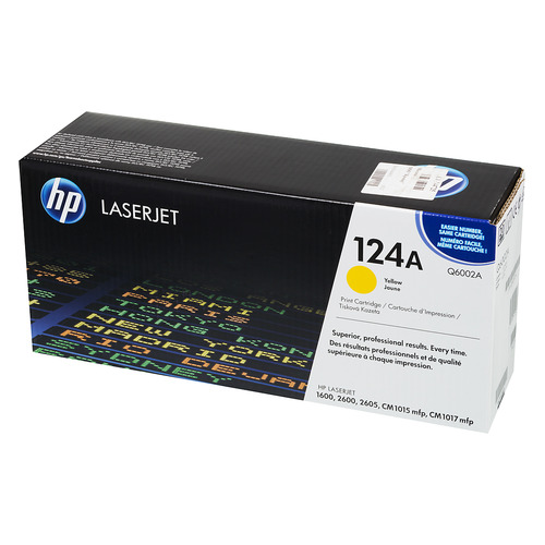 Картридж HP 124A, желтый [q6002a] hot for hp q6000a q6002a black yellow toner powder for hp color laserjet 1600 2600n 2605 cm1015 mfp cm1017 mfp free shipping