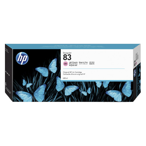 Картридж HP 83, светло-пурпурный [c4945a] картридж струйный hp 91 c9465a pigment 775 мл photo black для dj z6100