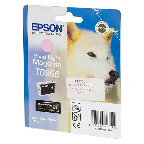 Картридж EPSON T0966, светло-пурпурный [c13t09664010] цена и фото