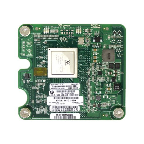 Адаптер HPE QLogic QMH2562 8Gb Fibre Channel Host Bus (451871-B21) адаптер hpe blc brocade 804