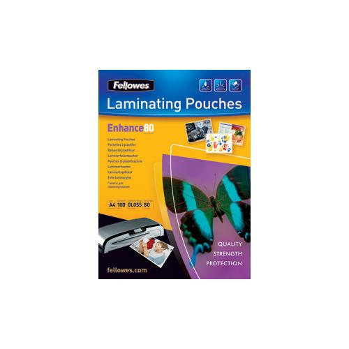 Пленка для ламинирования Fellowes CRC-53061, 80мкм, 216х303 мм, 100шт., глянцевая, A4