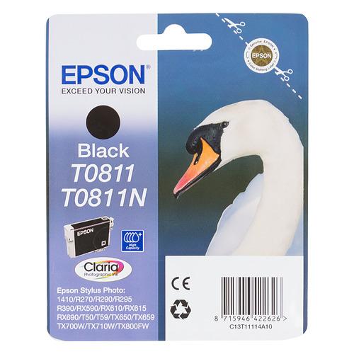 цена на Картридж EPSON T0811, черный [c13t11114a10]
