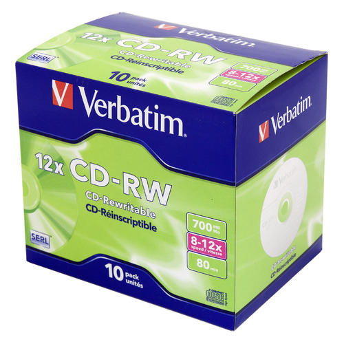 Оптический диск CD-RW VERBATIM 700МБ 12x, 10шт., jewel case [43148] капсулы don cortez vigoroso 10шт