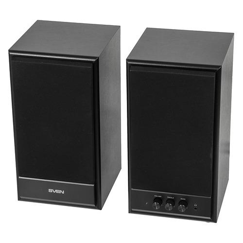 Колонки SVEN SPS-702, 2.0, черный [sv-0120702bl]  - купить со скидкой