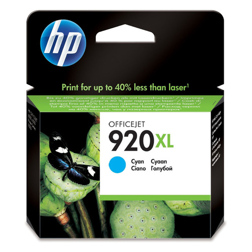 Картридж HP 920XL голубой [cd972ae] картридж hp cd972ae 920xl голубой oj 6000 6500 7000