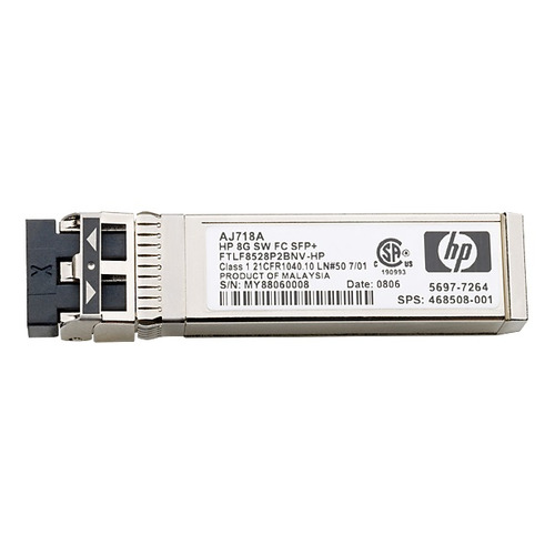 Трансивер HPE 8Gb Short Wave FC SFP+ 1pack (AJ718A) адаптер hpe blc emulex lpe1205 8gb fc hba opt 456972 b21