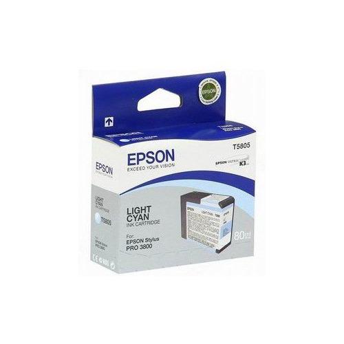 Картридж EPSON T5805, светло-голубой [c13t580500] светло голубой цв 747