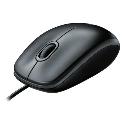 Мышь LOGITECH M100, оптическая, проводная, USB, черный и темно-серый [910-005003] цена 2017