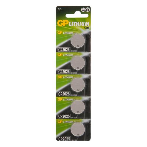 CR2025 Батарейка GP Lithium 5 шт. cr2025 батарейка gp lithium 5 шт