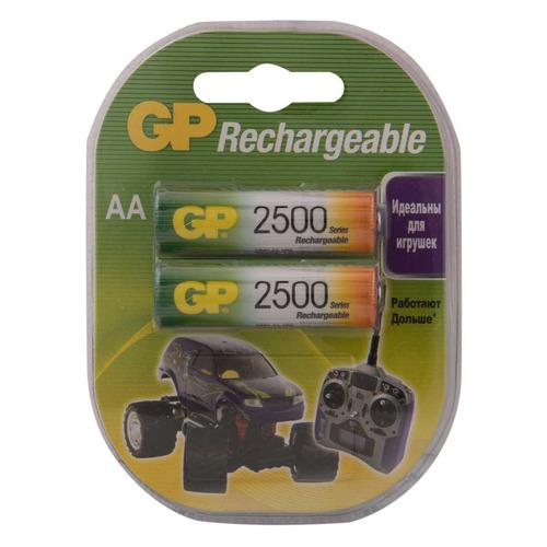 элементы питания gp аккумулятор gp 250aahc 2decrc4 AA Аккумулятор GP 250AAHC, 2 шт. 2500мAч