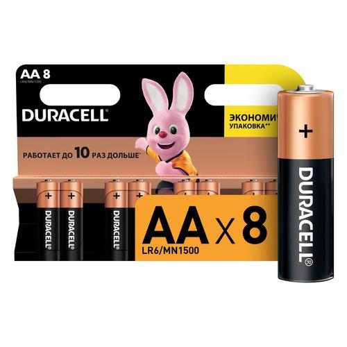 AA Батарейка DURACELL Basic LR6-8BL MN1500, 8 шт. цена 2017