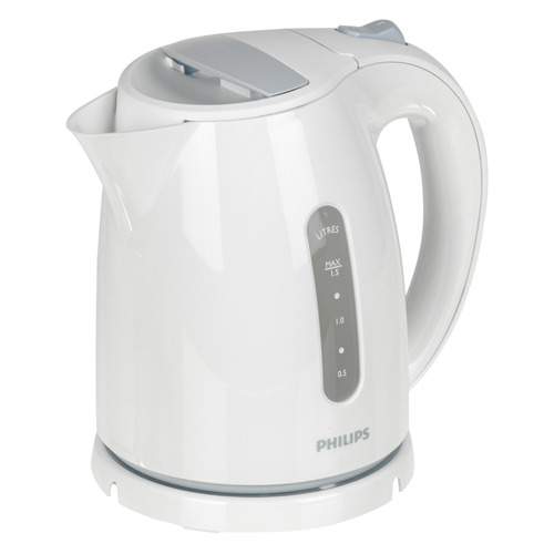 Чайник электрический PHILIPS HD4646/70, 2400Вт, белый и голубой