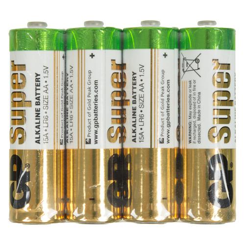 AA Батарейка GP Super Alkaline 15ARS LR6, 4 шт. цена и фото