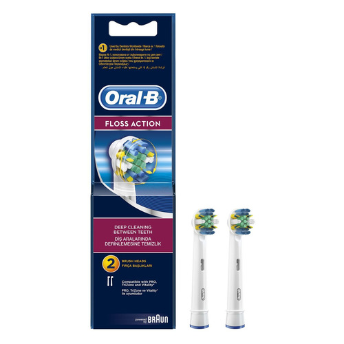 Сменные насадки для электрических зубных щеток ORAL-B Floss Action 2 шт [81317997] waterpulse professional oral care teeth cleaner irrigator electric oral irrigator dental flosser