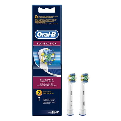 Сменные насадки для электрических зубных щеток ORAL-B Floss Action 2 шт [81317997] насадки для электрических зубных щеток braun oral b precision clean