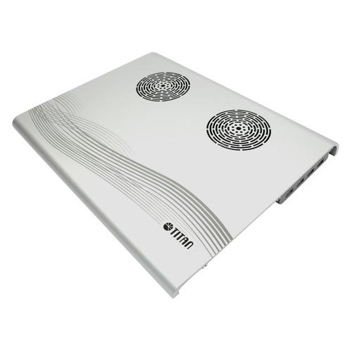 Подставка для ноутбука Titan TTC-G3TZ/SB325x263.5x29мм 16.9дБ 4xUSB 2x 70ммFAN алюминий серебристый цена и фото