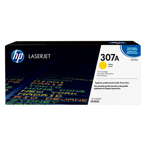 Картридж HP CE742A желтый lcl ce742a 307a ce 742 a 307 a 1 pack compatible laser toner cartridge for hp color laserjet cp5225 5225n 5225dn