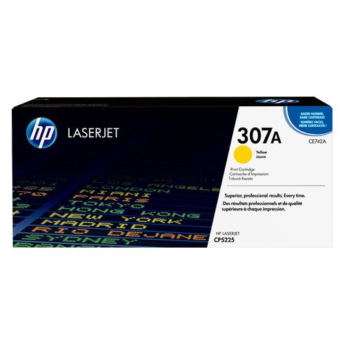 Картридж HP 307A, желтый [ce742a]