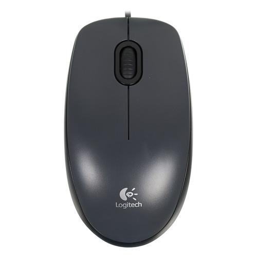 Мышь LOGITECH M90, оптическая, проводная, USB, черный и темно-серый [910-001794] цена 2017