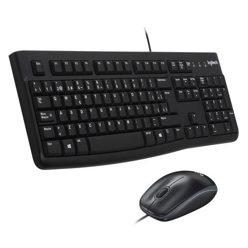 Комплект (клавиатура+мышь) LOGITECH MK120, USB, проводной, черный [920-002561] цена и фото