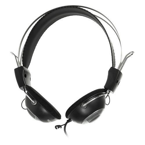 Гарнитура A4 HS-23, для компьютера, накладные, черный / серый, черный / серый  - купить со скидкой
