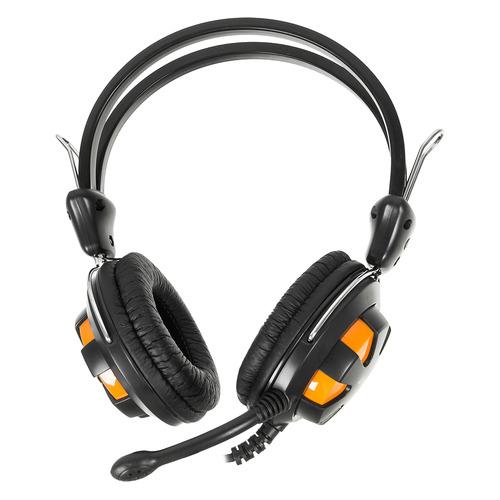 Гарнитура A4 HS-28, для компьютера, накладные, оранжевый / черный [hs-28 (orange black)] гарнитура creative hs 720 51ef0410aa002 для компьютера накладные серебристый черный