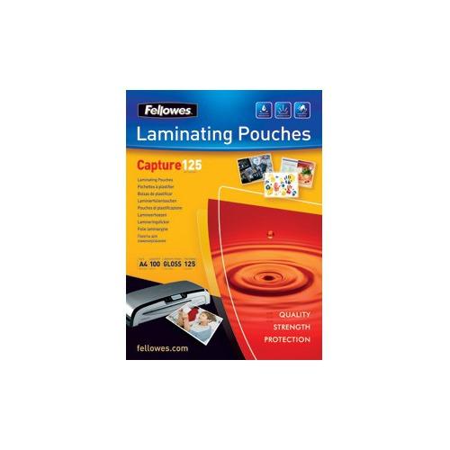Пленка для ламинирования Fellowes CRC-53073, 125мкм, 154х216 мм, 100шт., глянцевая, A5