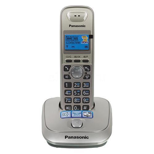 Радиотелефон PANASONIC KX-TG2511RUN, платиновый и черный kx tg2511run